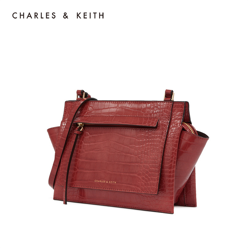Charles & Keith women's bag ck2-80781043 solid color simple women's shoulder wing bag