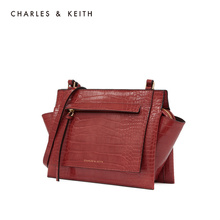 Charles & keith2019 new winter product ck2-80781043 solid color simple women's shoulder wing bag