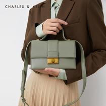 金属扣饰女士翻盖单肩包80270412CK2秋季新品KEITH2019&CHARLES