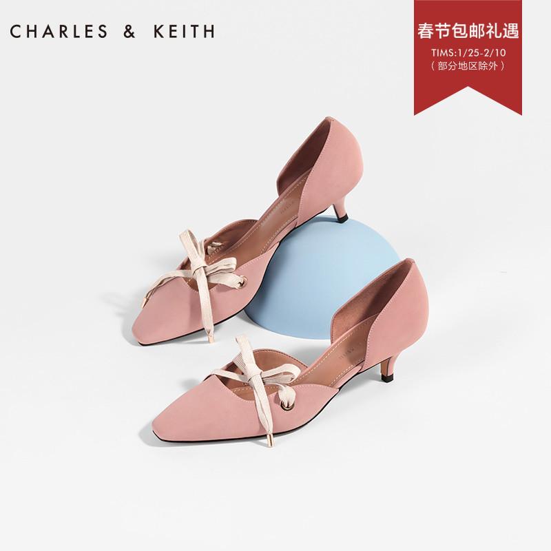 系带设计女士浅口奥赛鞋60280166CK1中跟鞋KEITH&CHARLES