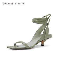 CHARLES & KEITH2019 New Sandals CK1-61720023 with Lady's Square Head and Cat's heel