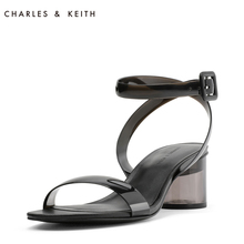 CHARLES & KEITH Sandals CK1-60900089 Simple One-Word Transparent Round-heeled PVC Sandals