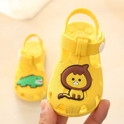 夏季宝宝凉鞋男女儿童塑料防滑婴幼儿学步鞋步前鞋软底0-1-2-3岁