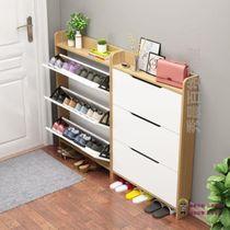 超薄10厘米翻斗鞋柜门后简约现代窄鞋柜小户型拖鞋收纳柜玄关鞋柜
