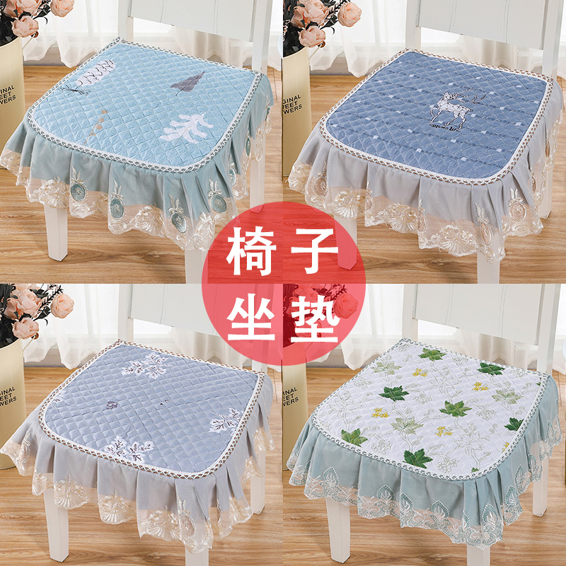 餐桌椅子坐垫椅子垫子冬季餐椅坐垫家用椅子套靠背一体防滑凳子垫