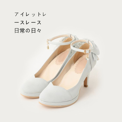 Japanese new round head thin heel high heels Lolita womens shoes Lolita daily literature and art waterproof table single shoes