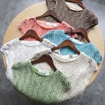妹纸快来!针织工艺!舒服显瘦有质感!夏季女针织衫短袖T恤背心