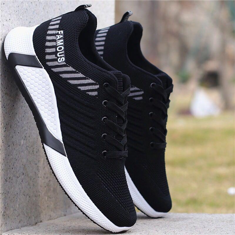 Lubbock男鞋2020运动鞋夏季透气网鞋男士休闲鞋男跑步鞋飞织