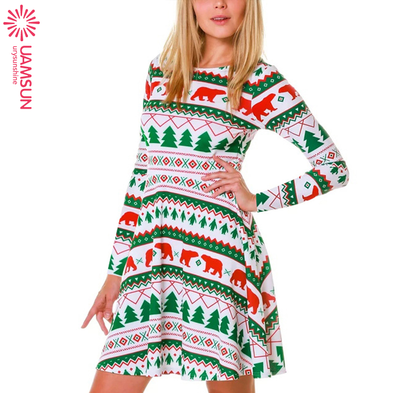 2019 autumn women christmas dress ladies dresses圣诞节连衣裙