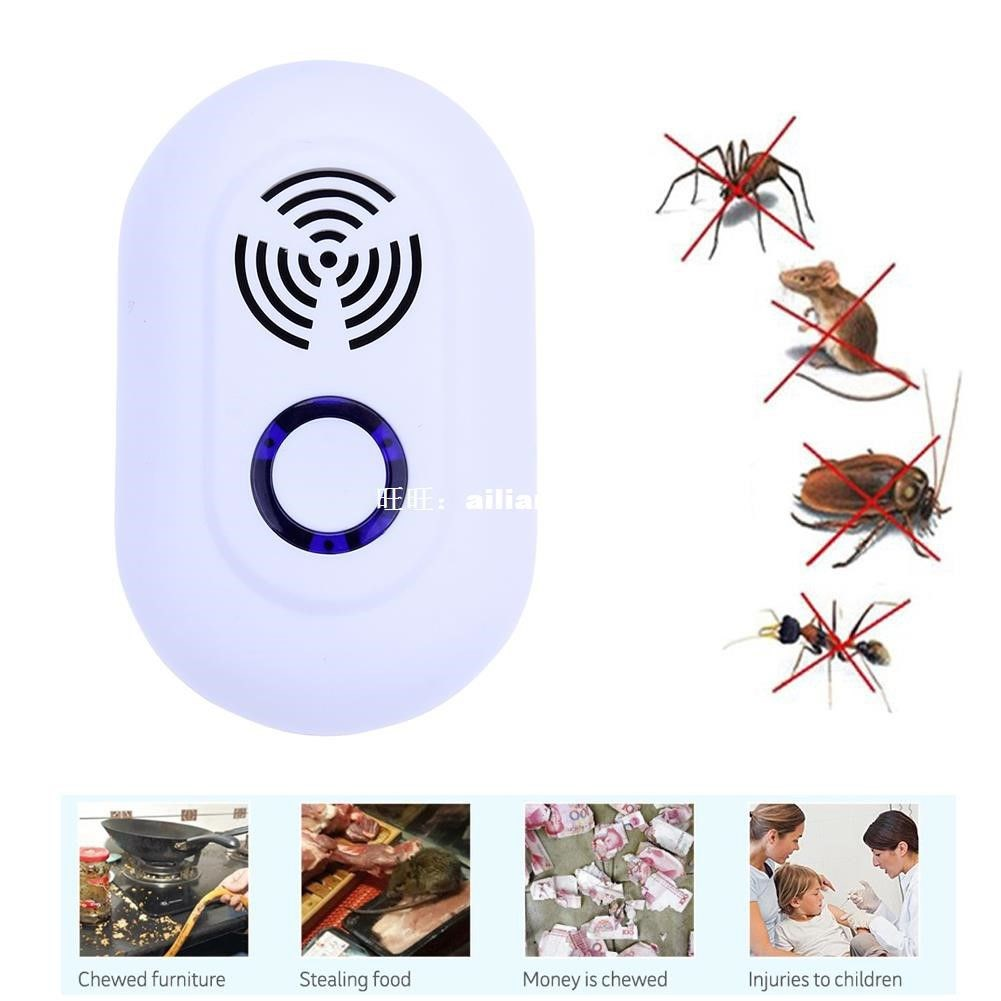 New Electronic Ultrasonic Mouse Killer Mouse Cockroach Trap