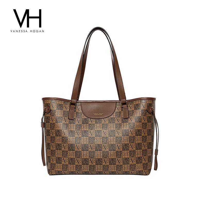 VH女包2020新款欧美潮字母托特包大容量个性单肩包气质通勤手提包