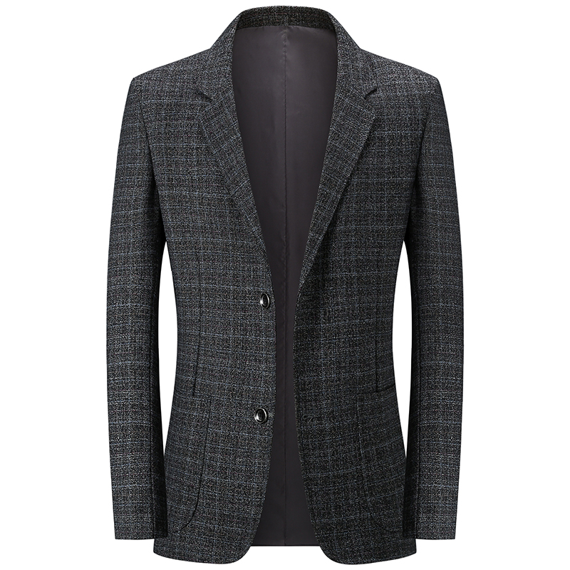 Middle aged mens suit business leisure Wool Plaid suit middle aged and old wool autumn fashion coat p69