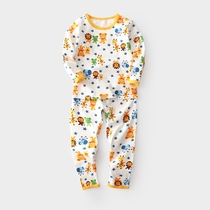 Good value for money boy full printing underwear set childrens baby autumn pants cotton Sweaters pants