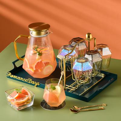 轻奢水杯套装北欧茶壶杯具欧式家用茶具套杯家庭客厅杯子玻璃水具