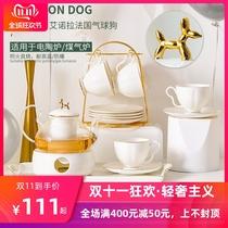 英式下午茶具北欧花茶杯套装欧式陶瓷耐热玻璃煮水果蜡烛加热茶壶