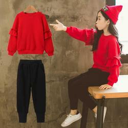 女童秋款洋气套装2020新款中大童春秋韩版运动卫衣时尚休闲两件套