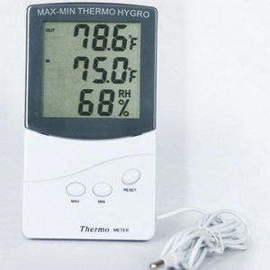 领1元券购买Indoor Outdoor Digital Thermometer With Hygrometer