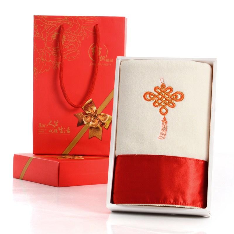 新款精美提缎纯棉毛巾擦头巾六条礼盒装节日生日婚庆礼品套盒