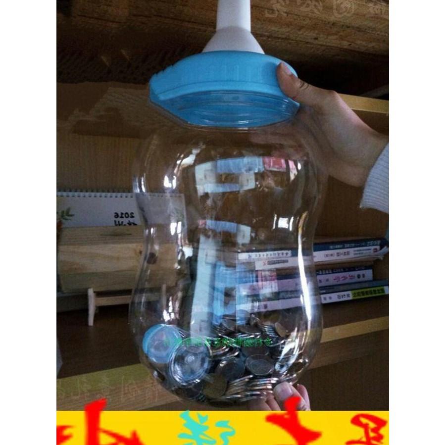 热销0件限时秒杀新品塑料杯水瓶大人超大奶瓶存钱罐个性两少女女士道具奶嘴大