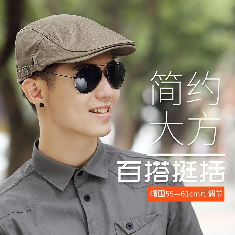 Dads hair is simple and hollow, lovely old people adjust loose hat in spring summer Beret ins thin