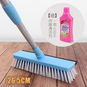 双面长柄硬毛地板刷清洁套装地刮