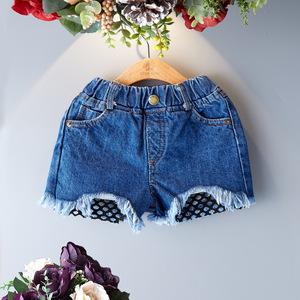女宝宝夏季裤装牛仔短裤2女童休闲裤子3到4岁儿童热裤6中童小女孩