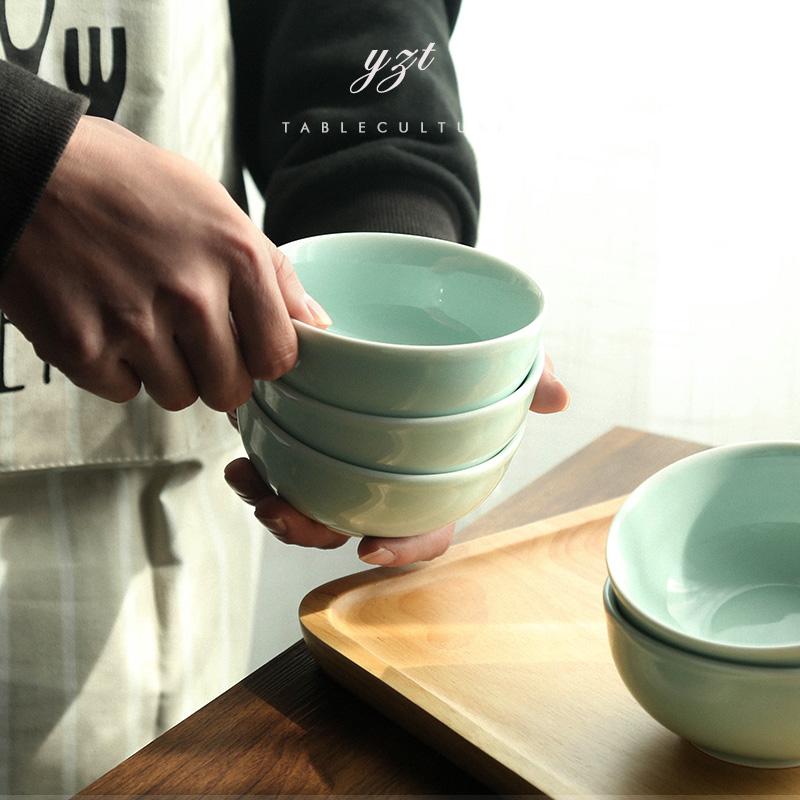 陶瓷碗單個吃飯碗 龍泉青瓷米飯碗燕麥小碗日式餐具套裝家用北歐