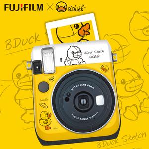 富士mini70一次成像自拍美颜相机套餐含拍立得相纸 迷你70小黄鸭