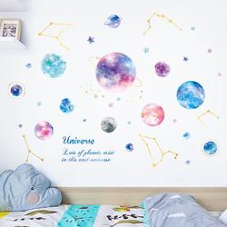 星空墙壁贴纸贴画少女心卧室装饰温馨墙贴纸ins房间布置墙纸自粘