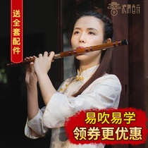 Flute Musical Instrument Beginner 0 Basic primer playing double bamboo Flute boys and Girls students flute C Tune e tune