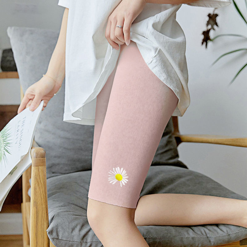Summer thin fitness Leggings for women wearing large quarter pants tight high waist elastic sports pants cycling shorts