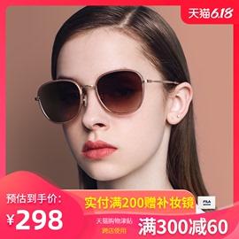 FILA墨镜女ins韩潮网红19新款防紫外线太阳眼镜明星同款街拍圆脸图片