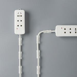 插排固定器插线板插座排插壁挂墙上墙壁插头网线电线卡扣卡线夹子