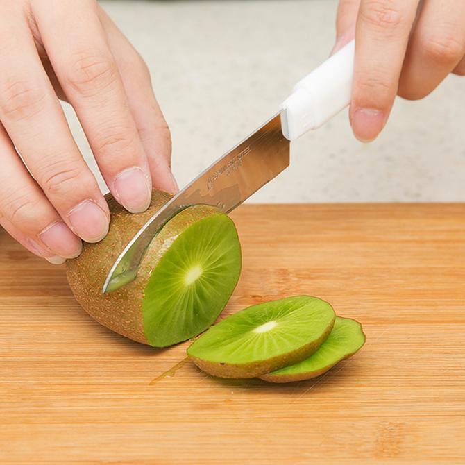 厨房水果刀瓜果刀带套小刀削皮器 日本进口果皮削皮刀多功能不锈钢