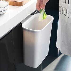 壁挂式垃圾桶厨房橱柜门挂式大号塑料收纳盒家用桌面筒分类垃圾篓