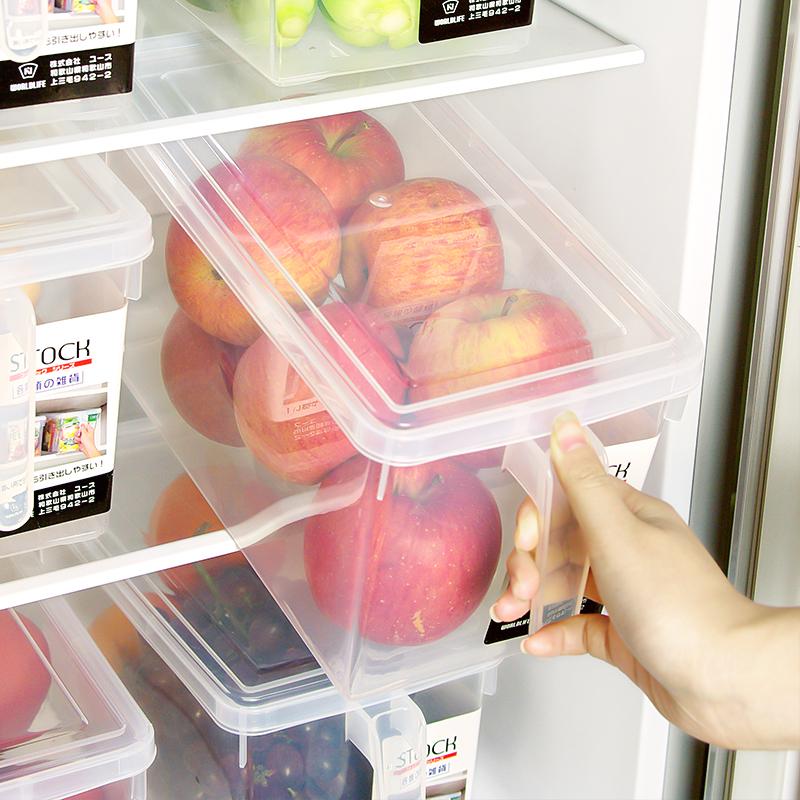 Иморт из японии холодильник в коробку пластик еда еда фрукты и овощи сохранение картридж крышка обрабатывать разбираться коробка
