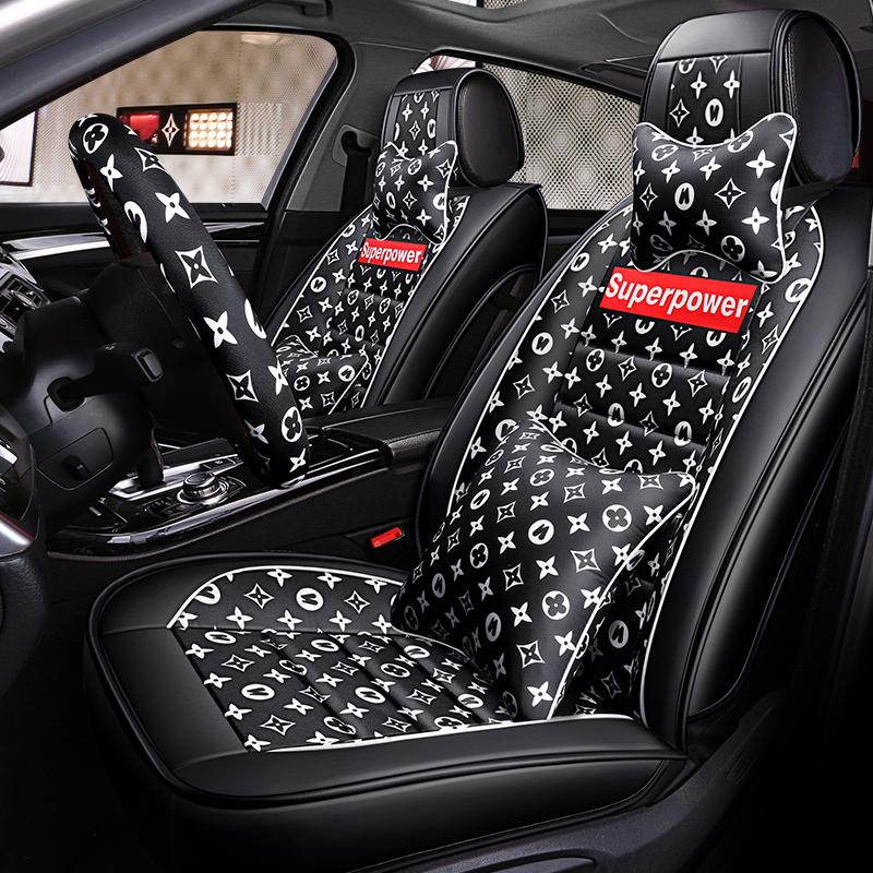 汽车坐垫专车专用大众朗逸车座套捷达座套宝来座椅套凌度棉麻座垫,可领取10元天猫优惠券