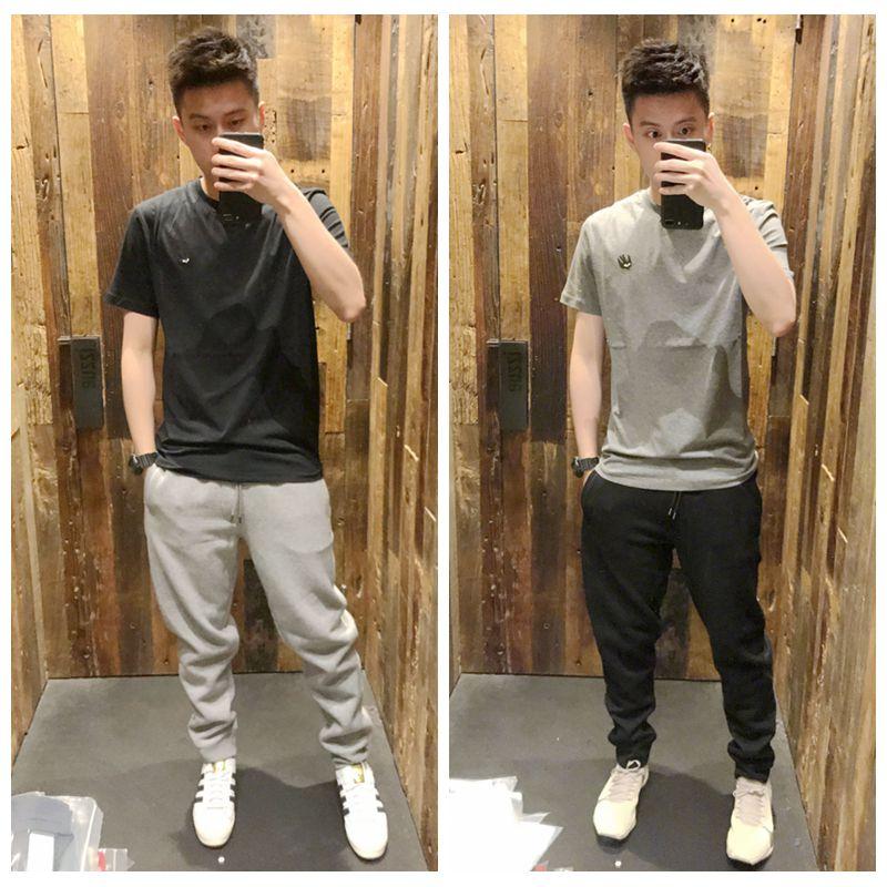 【海龟】香港正品ALEXANDER MCQUEEN MCQ 小标纯色短袖休闲T恤