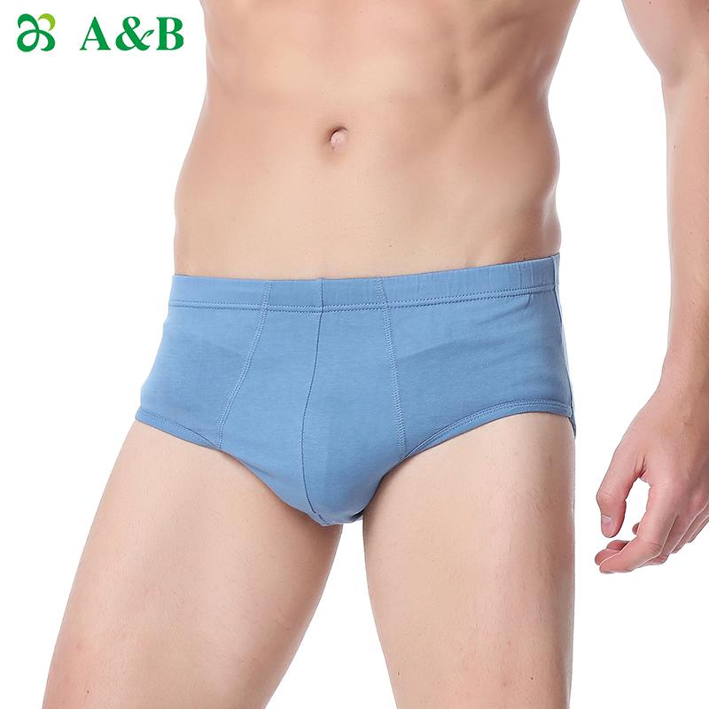 (用41.1元券)a bab男丝光棉抗菌中高腰三角裤裤