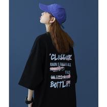 潮牌短袖2021年新款t恤女夏设计感宽松大码女装港风ins潮胖mm半袖
