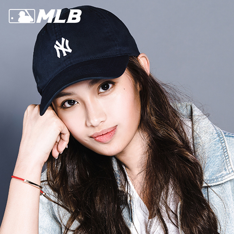 MLB棒球帽小标ny洋基队正品韩国官方旗舰官网男软顶la鸭舌帽子女