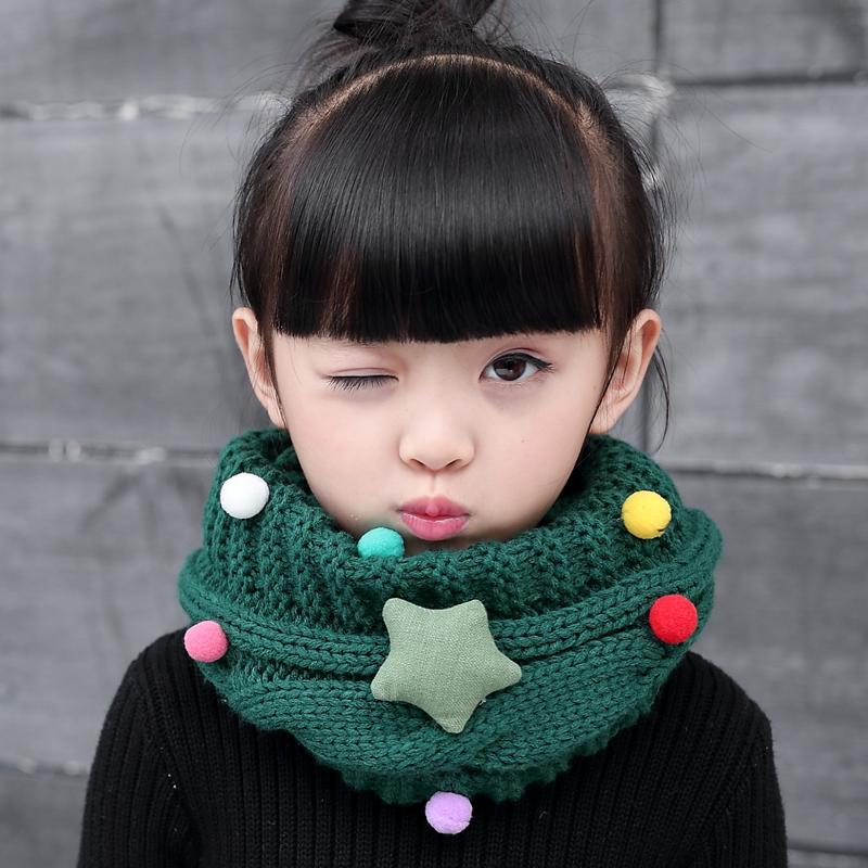 Корейский осень и зима милый ребенок шарф ребенок зимний сохраняющий тепло шерстяной ошейники принцесса мальчиков девочки ребенок нагрудник