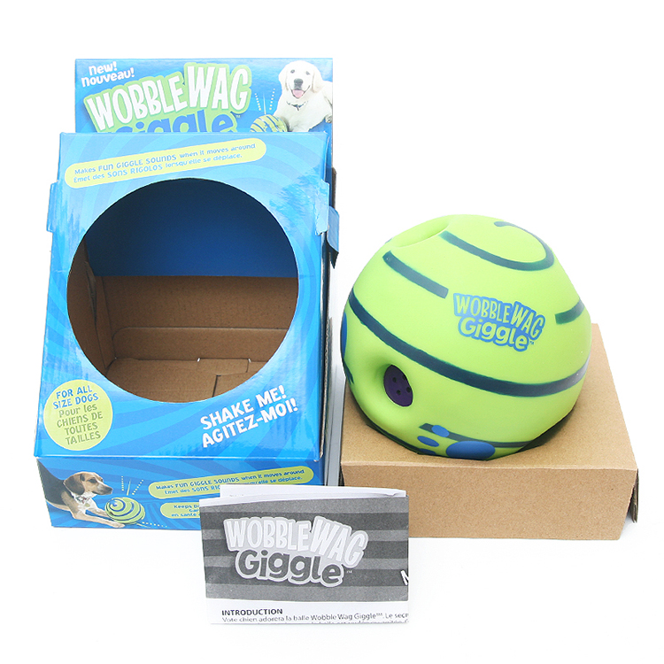 Shaking and rolling dog vocal toy ball big dog dog dog barking pet without battery
