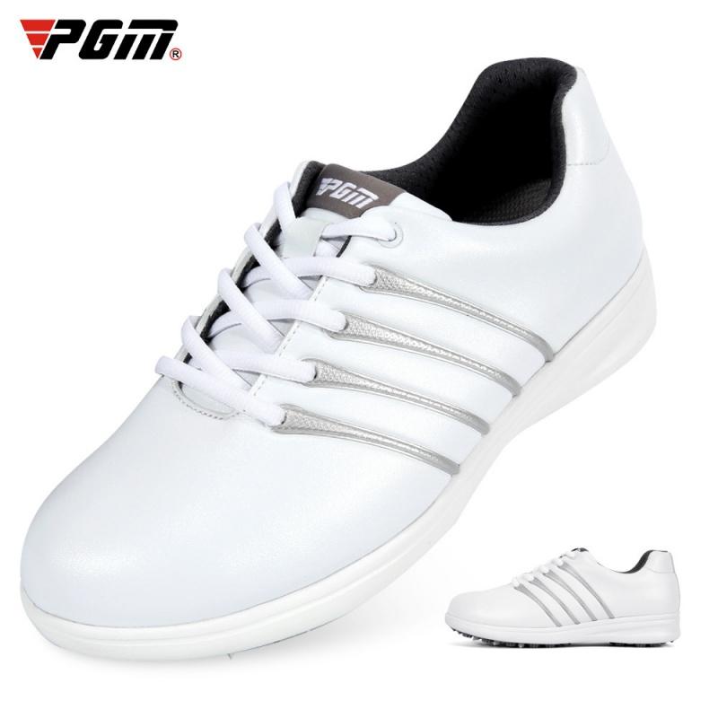 PGM 高尔夫球鞋 女士运动鞋 防侧滑 系带小白鞋