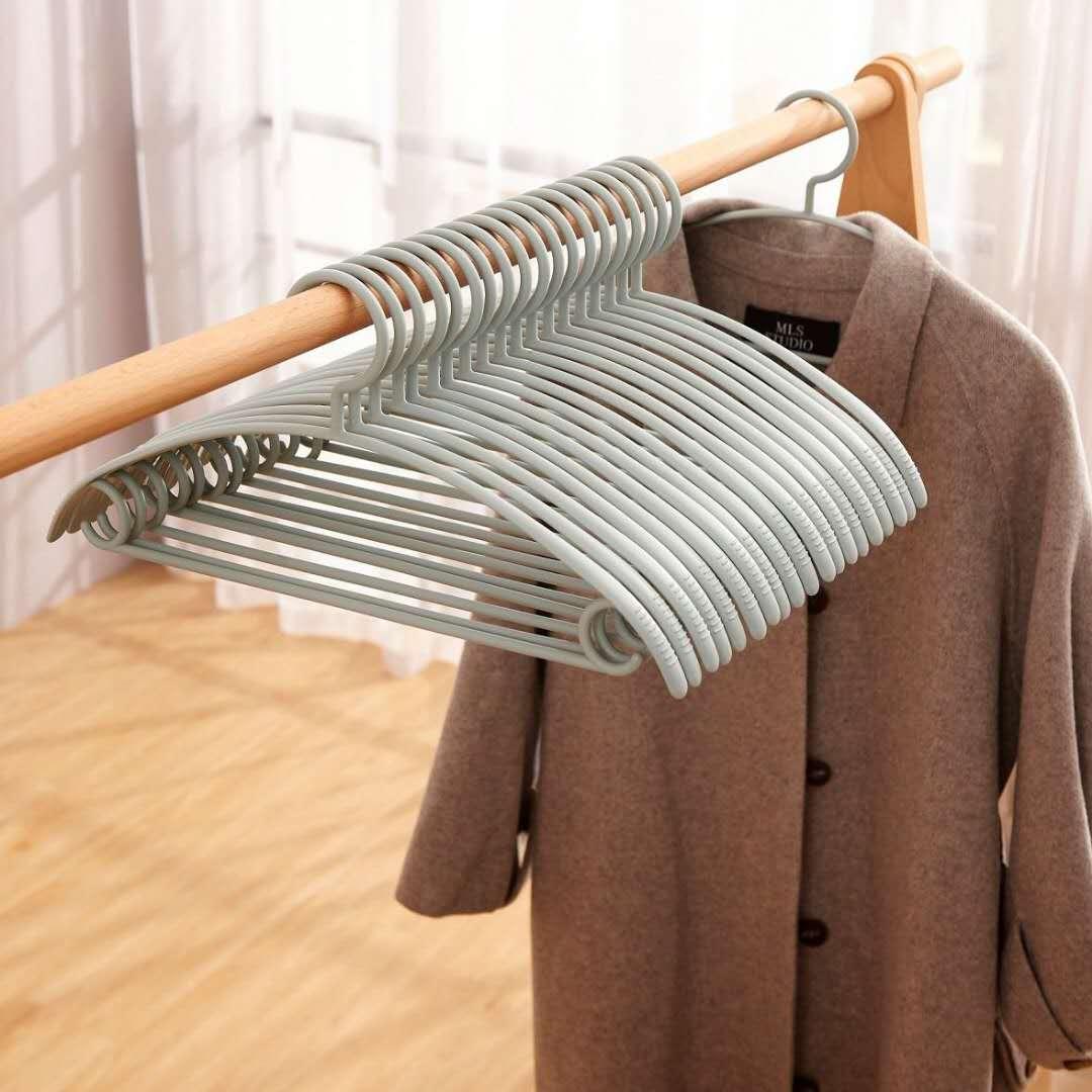 【10-50支】宽肩无痕加粗衣架成人防滑衣架家用衣撑塑料学生衣架