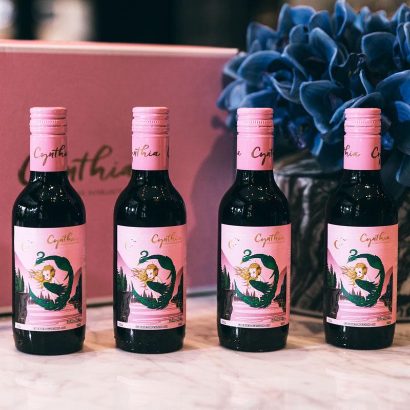 爱喝酒的徐博士 辛迪娅精灵小红酒智利原瓶进口红葡萄酒4瓶装礼盒