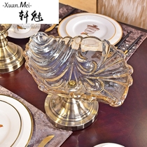 Xuan Charming European living room coffee Table glass fruit Basket Candy plate Modern simple table decorations decoration