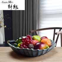 Xuan charming European fruit plate home living room decoration Decoration Creative American household personality coffee table furnishings Basket