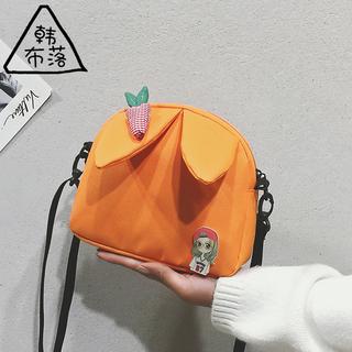 卡通造型女包森系软妹帆布小包包少女小清新单肩包可爱纯色斜挎包