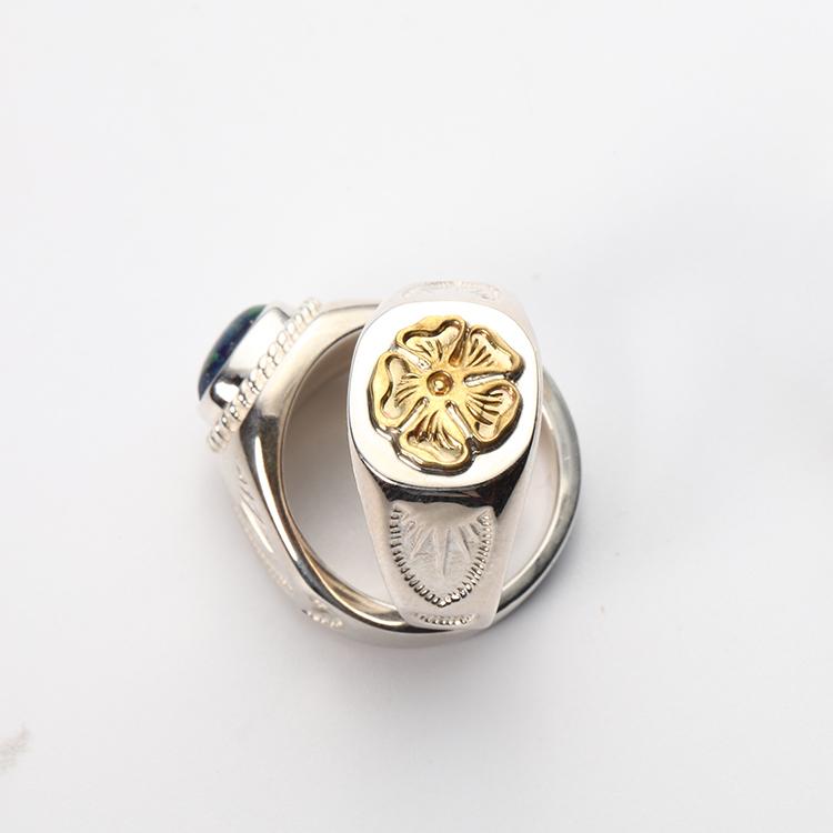 偶屿925纯银手工戒指蔷薇花闭口戒复古个性男女搭配首饰图片